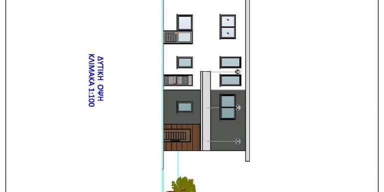 HOUSE WEST ELEVATION