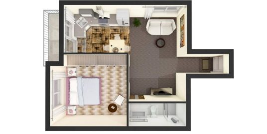 Brand new one bedroom apartend in polemidia