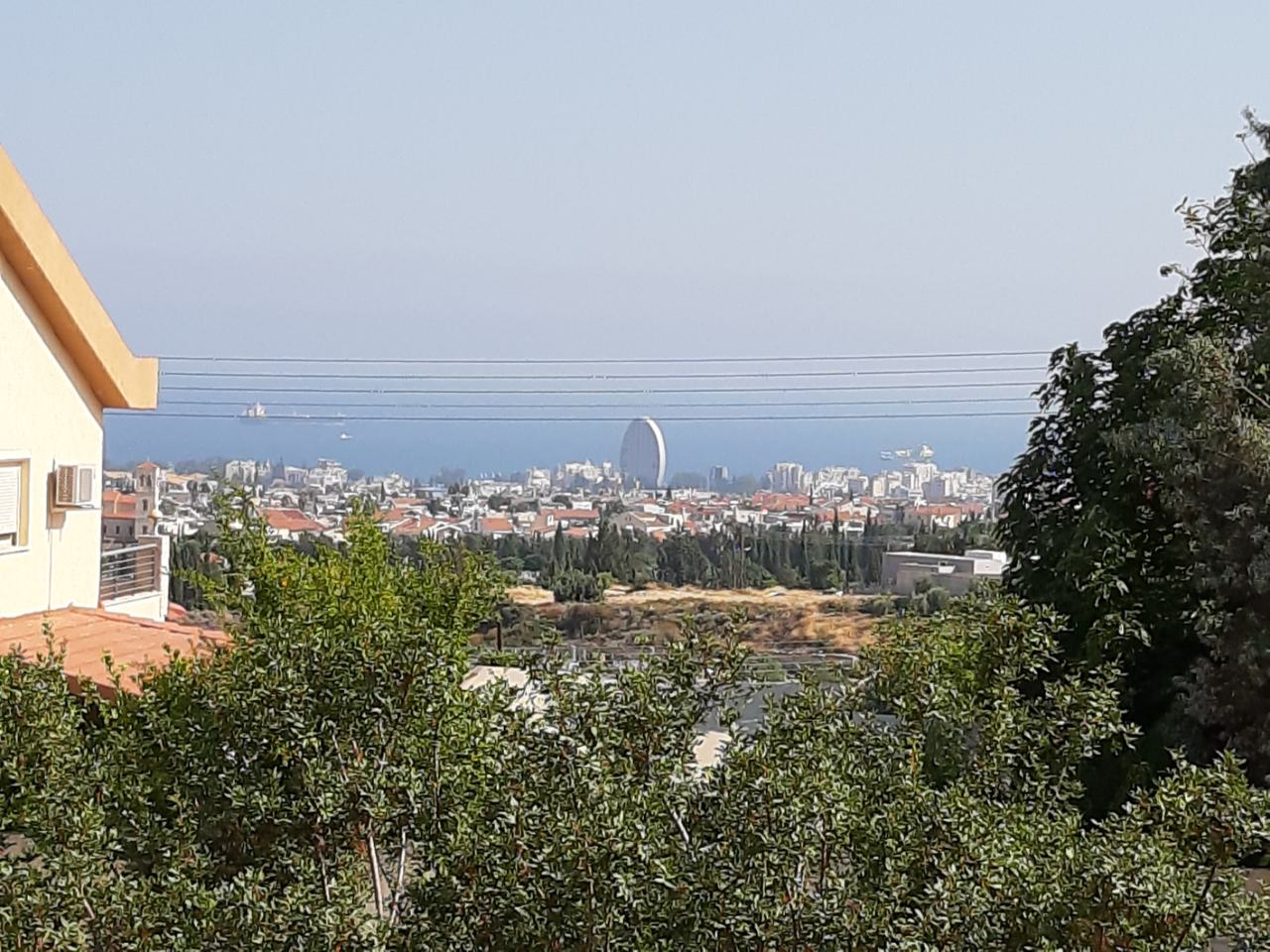 Corner plot of land in Agios Athanasios with sea view