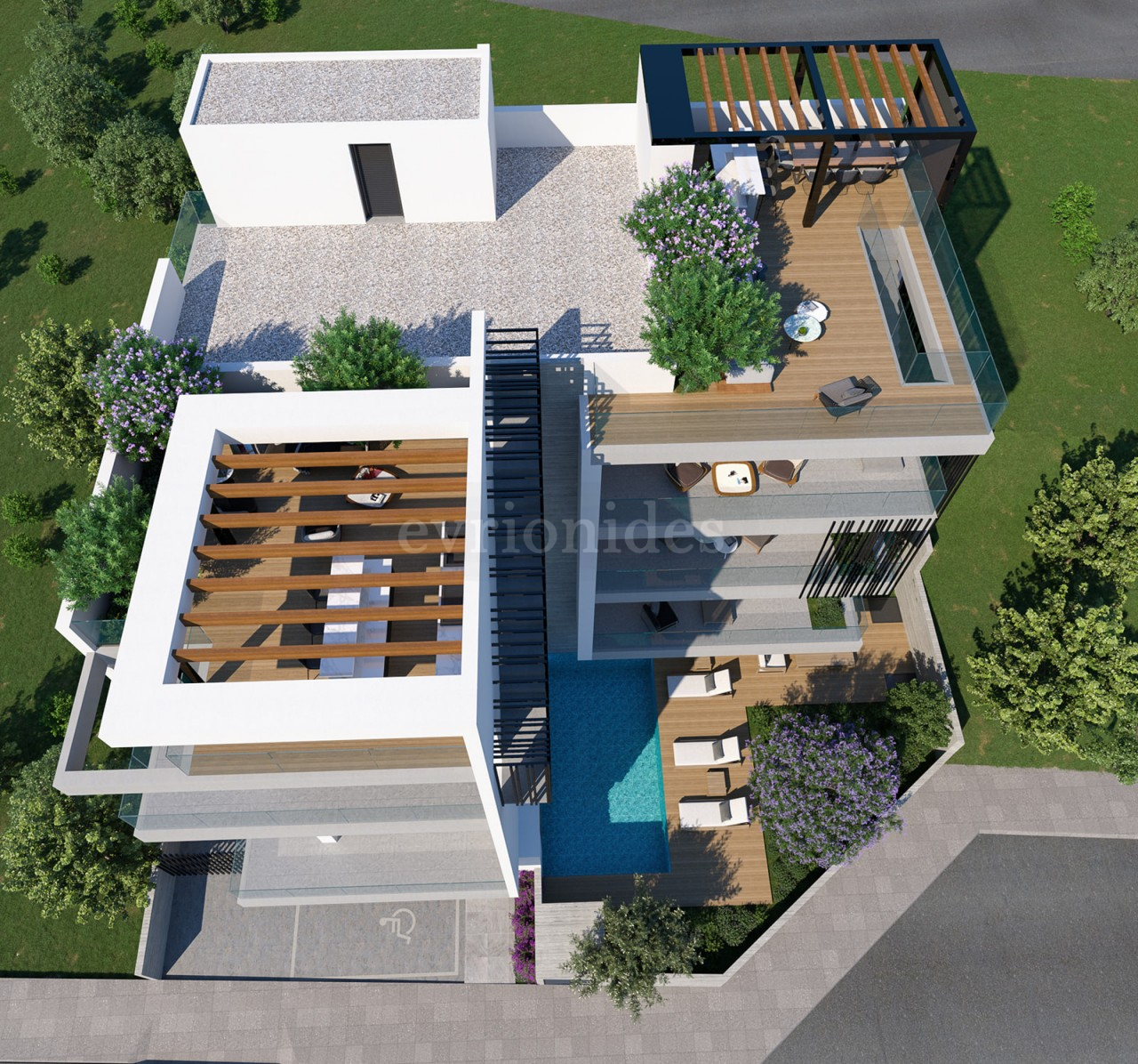 2 bedroom penthouse under construction in Agios Athanasios area